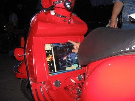 Touch Screen Vespa