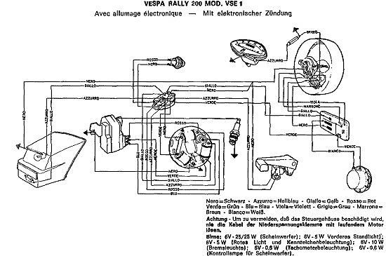 Vespa wiring diagram vespa rally 200 vse1