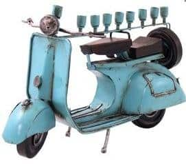 Jewish Moped menorah
