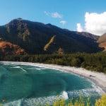 Photo overlooking anawangin beach cove
