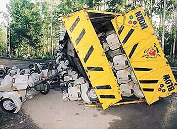 Vespa Truck Crash