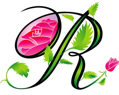 Letter R Design Tattoo