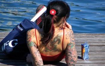 Tattoo on Girls Back