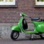 Green Classic Vespa