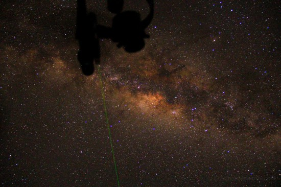 Milky Way with Telescope in Shot