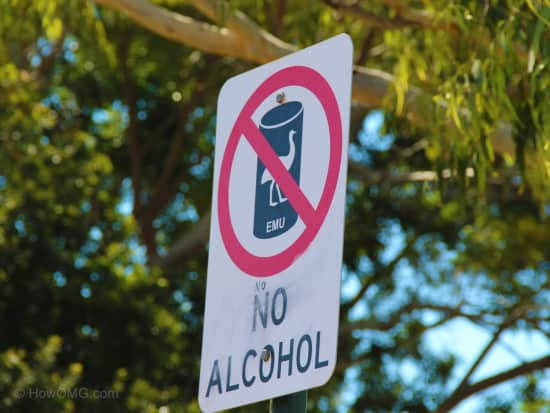 No Drinking Sign