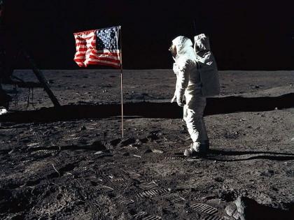 Moon walking man